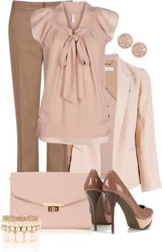 """Pretty In Pink"" by averbeek ❤ liked on Polyvore"