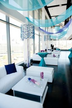 We absolutely love this reception lounge! Simple, spacious, white combines with bright colours. Beautiful!
