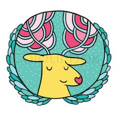Vector Christmas deer Sale badge. Holiday vector illustration on Colourbox