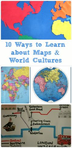 Map, Geography & Culture Activities for Kids Wonderful hands-on activities that teach kids how to use maps and learn about world cultures!Wonderful hands-on activities that teach kids how to use maps and learn about world cultures! Geography Activities, Geography For Kids, Teaching Geography, World Geography, Hands On Activities, Learning Activities, Teaching Kids, Kids Learning, Culture Activities