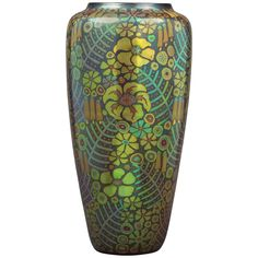 """Hungarian Ceramic """"Eosin-Glazed"""" Vase by Zsolnay, circa 1910 