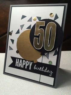 I got the general layout for this card from this spectacular card... http://joyfulcreationswithkim.blogspot.com/2015/11/freshly-made-sketches-birthday.html I handcut the numbers.  For my BIL's bday.