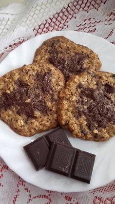 Étcsokoládés zabkeksz Cookies, Desserts, Food, Biscuits, Meal, Deserts, Essen, Hoods, Dessert