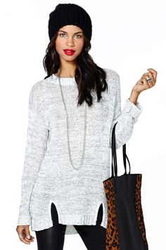 MinkPink A Winter's Tale Knit Tunic | Shop Sale at Nasty Gal