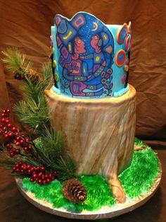Woodland Cake Woodland Cake, Custom Cakes, Planter Pots, Personalized Cakes, Personalised Cake Toppers