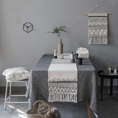 Product Description : Table Runner Tablecloth Cover Fabric Nordic Geometric White Black Lines Tassels Modern Home Office Store Decoration fabric Size Not Inculded Tassel Length, Tassel is around (maybe difference) Piece Package:brand new with OPP bag, Cheap Table Runners, Table Flag, Affordable Home Decor, Decoration Table, Black Decor, Modern Rugs, Simple House, Living Room Bedroom, Minimalist Home