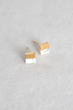 Lovoda - Square Stone Earrings (14K Gold), $15.00 (http://www.lovoda.com/square-stone-earrings-14k-gold/)
