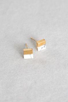 Lovoda - Square Stone Earrings (14K Gold), $15.00 (http://www.lovoda.com/square-stone-earrings-14k-gold/)