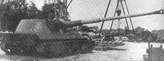 German Waffentrager experimental SPG with a massive 88mm gun.
