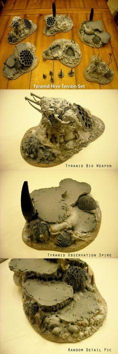 Tyranid hive terrain:
