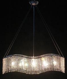 A93-833/5 CH Gallery Modern / Contemporary Modern & Contemporary 5 Lights Crystal Chandelier
