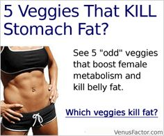 5 Veggies That Kill Stomach Fat: CLICK HERE! http://venusfactoroffers.wix.com/loseweight
