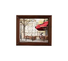 """Mornings on Ile St Louis Framed Print by Rebecca Plotnick, 13 x 11"""", Ridged Distressed Frame, Espresso, No Mat"""