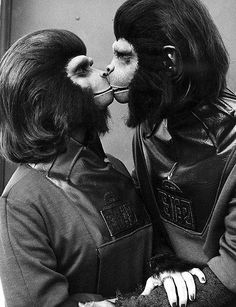 True love. Planet of the Apes (1968). Kim Hunter and Roddy McDowall as Zira and Cornelius.