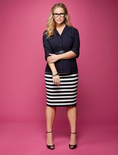 eloquii by The Limited carries the best work clothing for plus sizes. Who said you have to be frumpy and shop at dumb Lane Bryant all the time? I'm not my mom!