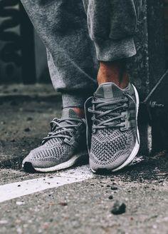 Adidas Ultra Boost in Wool Grey.