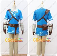 The Legend of Zelda Breath of the Wild Link Cosplay Costume blue #CSddlink #CompleteOutfit