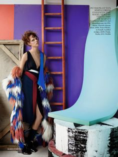 visual optimism; fashion editorials, shows, campaigns & more!: abstract thinking: freja beha erichsen by mario testino for uk vogue septembe...