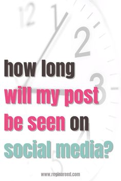 Social media is extremely fast-paced. It��s easy to feel like your posts just get buried in the constantly moving social platforms! Find out which platforms gives your posts the longest visibility. #socialmedia #marketing