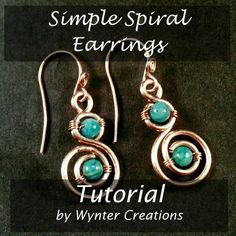 (5) Name: 'Jewelry : FREE! Simple Spiral Earrings
