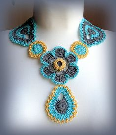 Crochet Necklace Collar Pattern Flower Necklace Pattern Boho Jewelry Crochet Jewelry Necklace Pdf This listing is for a PDF PATTERN for crocheting this Necklace. It is not for a finished product! After purchasing this listing you will receive a link to download the pdf- 34 pages and lots of
