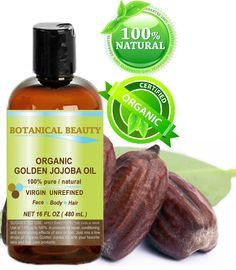 Botanical Beauty ORGANIC GOLDEN JOJOBA OIL 100% Pure. For Face, Hair and Body. 16 Fl.oz- 480 ml. -- Check out the image by visiting the link.