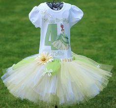 Princess Tiana Tutu Princess Tiana Birthday by TwistinTwirlinTutus, $64.99