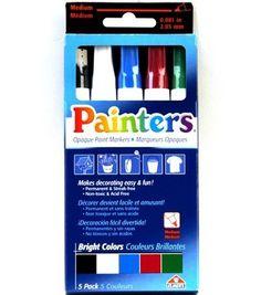 Painters Opaque Bright Medium Markers-5pk, , hi-res