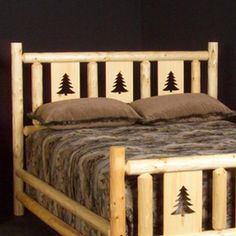 Viking Industries NRPPH Northwoods Montana Conventional Headboard with Insert Panels