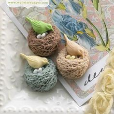 Webster's Pages Modern Romance & New Beginnings, Nesting Birds Charm Pack