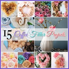 15 Coffee Filter Projects...all of these are so pretty, love the vintage look these have!