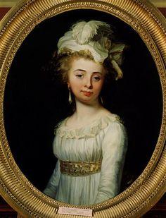 Marie-Francoise Henriette de Banastre, duchesse de Bouillon, 1789 by Jean-Laurent Mosnier (1743-1808) (Musées Nationaux-Grand Palais)