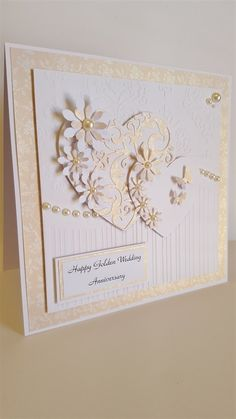 Golden Wedding Anniversary card | docrafts.com                              …