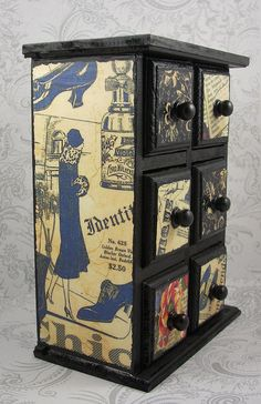 Art Deco Flapper Girl Patchwork Stash Jewelry Box by pzcreations22, $23.50