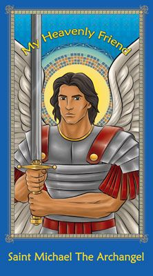 Heavenly Friends Prayer Cards  | My Heavenly Friend - Saint Michael The Archangel Prayer Card