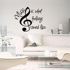 Music Is What Feelings Sound Like Wall by VinylPhraseCraze on Etsy, $16.99 youtube to mp3