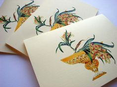 vintage orchid cards