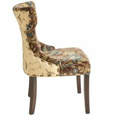 Hourglass dining chair peacock floral have a seat pinterest floral peacocks and dining - Pier one peacock chair ...