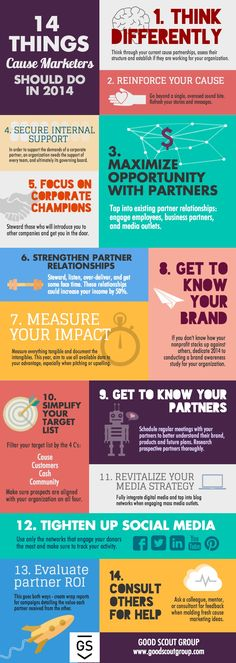 14 Things Cause Marketers Should Do In 2014   #Infographic #Marketing