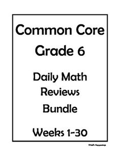 Worksheets 6th Grade Common Core Math Worksheets 6th grade common core math final review worksheets the ojays daily bundle weeks 1 30