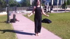 Jumping rope as a warm up before a #karate pad workout at Kangaroo Point in Brisbane #skipping
