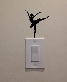 Ballet Dancer Dancing on Light Switch  by DecalPhanatics on Etsy