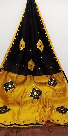 Dupion silk handloom with ari work sarees