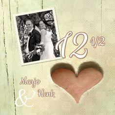 Huwelijksjubileum hart 12,5 jaar - Jubileumkaarten - Kaartje2go - ©OTTI & Lorie Davison