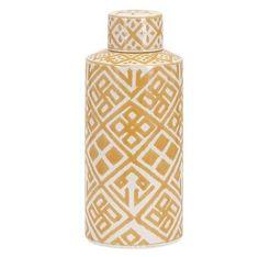 Contemporary Ceramics Tribal Yellow Jar