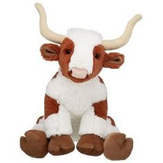 """12"""" aurora plush brown white cow """"choco"""" flopsie farm"""