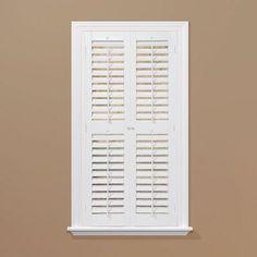 HomeBASICS Plantation Faux Wood White Interior Shutter (Price Varies By  Size)