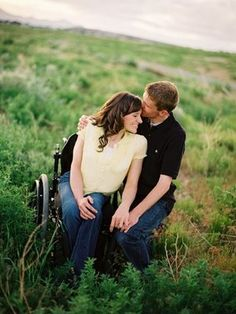 Engagement photo. >>> See it. Believe it. Do it. Watch thousands of SCI videos at SPINALpedia.com