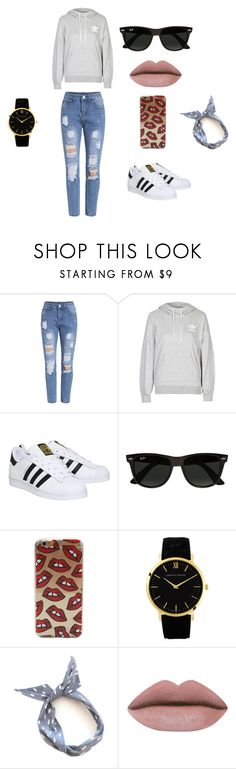"""""""Untitled #1"""" by nermin-cergic ❤ liked on Polyvore featuring adidas, Ray-Ban and Larsson & Jennings"""