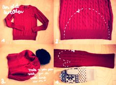 From NN Newsletter: Virginie's Cinema: DIY Sweater into Tuque and Mits ★